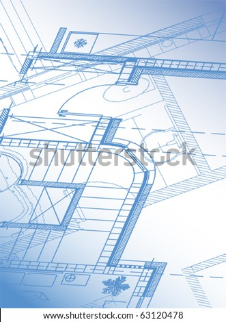 Architectural background cottage. Vector.