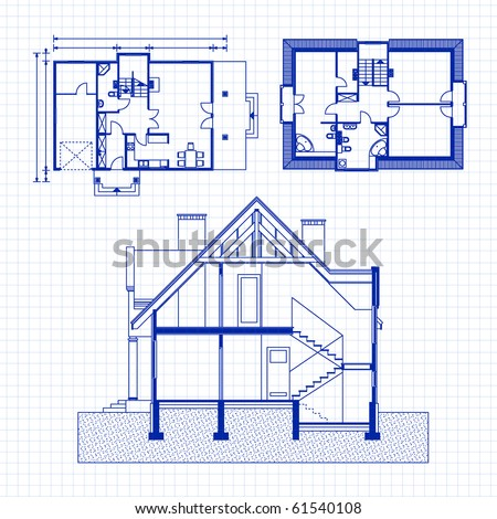 architectural background. vector blueprint