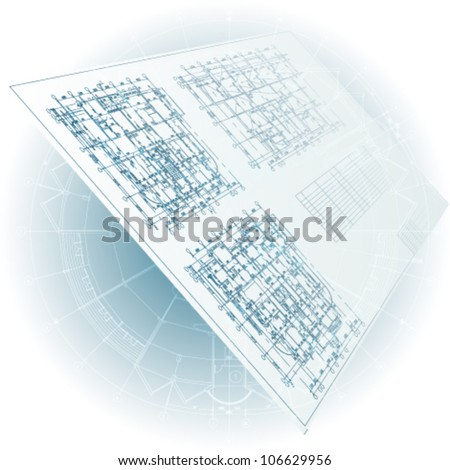 Architectural background. Vector clip-art