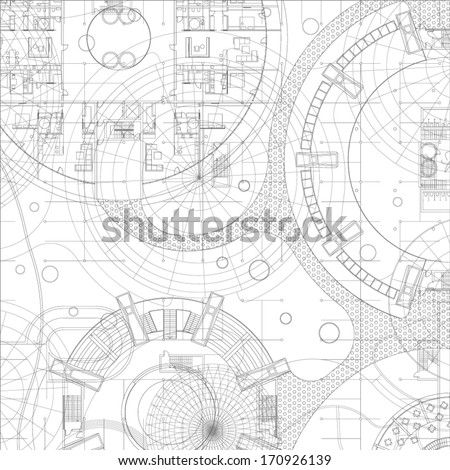 Architectural blueprint vector drawing background stock images architectural blueprint vector drawing background stock images page everypixel malvernweather Images