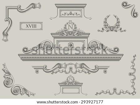 architectural details. vintage...