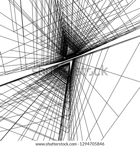 architectural drawing 3d #1294705846