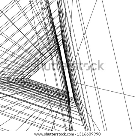 architectural drawing 3d #1316609990