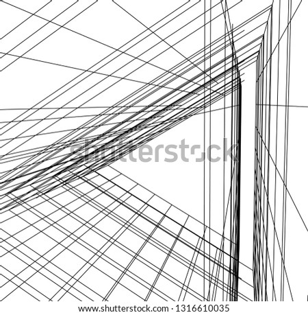 architectural drawing 3d #1316610035