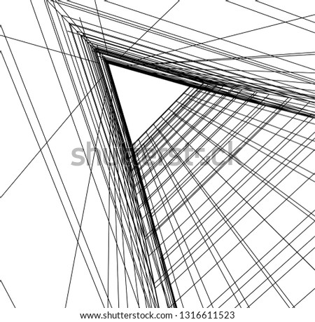 architectural drawing 3d #1316611523