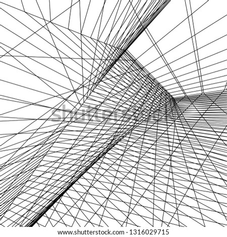 Architectural drawing. Futuristic background #1316029715