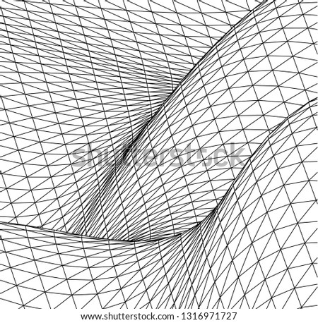 Architectural drawing. Geometric background #1316971727