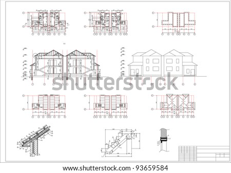 Architectural Drawing House