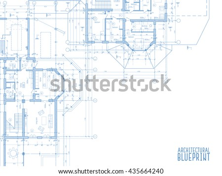 Architectural drawings on light background. Vector illustration