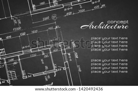 architectural drawings white