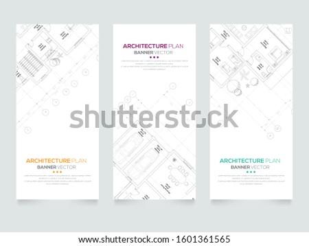 architectural plan Design , Architectural background , architectural plan vector