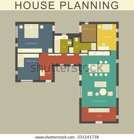 architectural plan of a house
