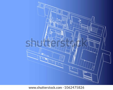 Cad free vector art 6 free downloads stock vector architectural project of the apartment interior malvernweather Image collections