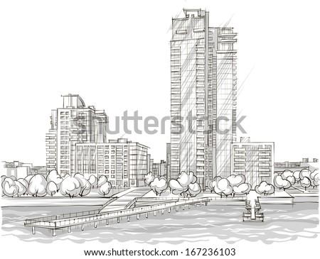 architectural sketch