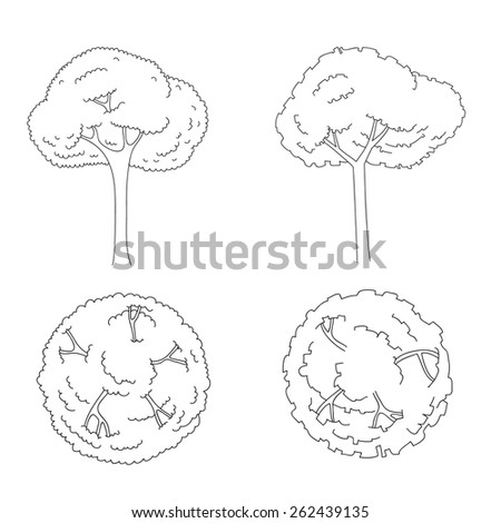 architectural trees set for