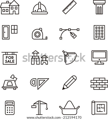 Architecture & Construction icons
