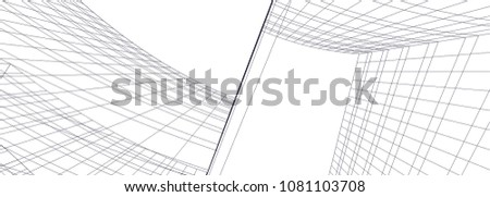 architecture 3d illustration #1081103708