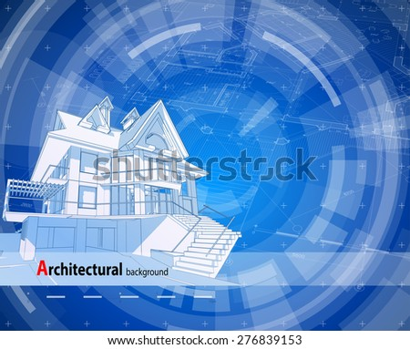 Architectural design blueprint Framing Architecture Design Blueprint 3d House Plan Blue Technology Radial Background Vector Illustration Stock Images Page Everypixel Pinterest Architecture Design Blueprint 3d House Plan Blue Technology