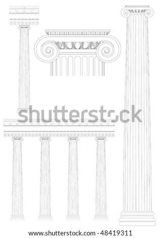 architecture detail , vector classic column