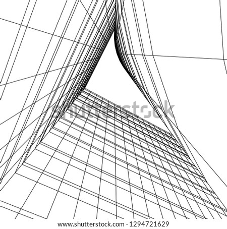 architecture drawing 3d #1294721629