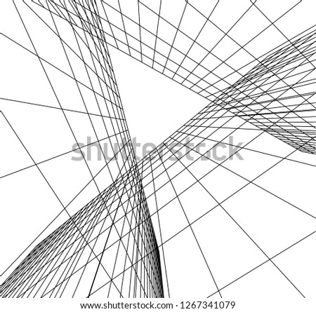 architecture geometric background #1267341079