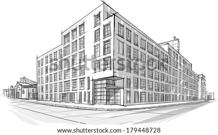 Architecture Building Drawing Coloring Pages Of The Buildings In Future Community Page