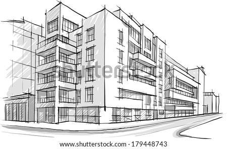 Architecture Buildings Sketch architectural building sketch free vector download (4,199 free