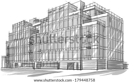 architecture sketch drawing