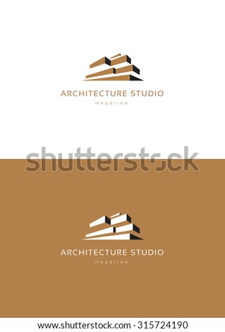Architecture studio logo template.