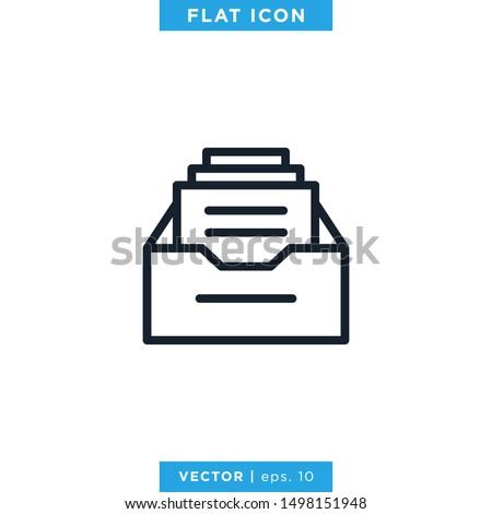 Archive Storage Icon Vector Design Template Stockfoto ©
