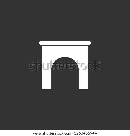 archway icon vector archway