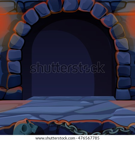 archway in medieval castle