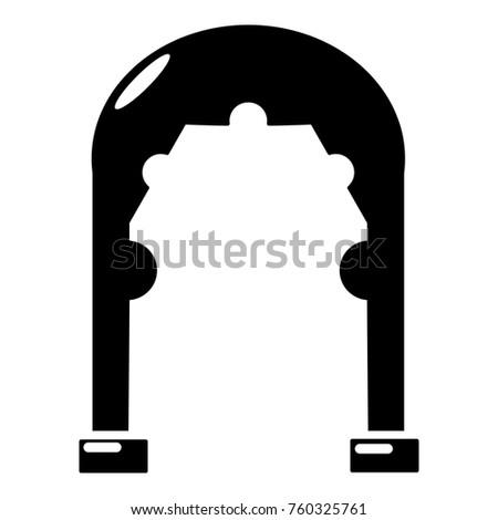 archway vintage icon. simple...