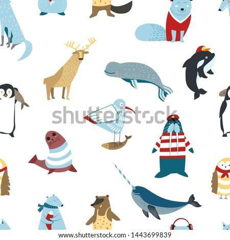 arctic animals and birds