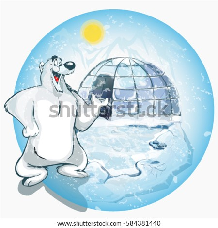 arctic ice house igloo with a