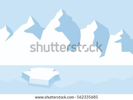 arctic landscape clipart