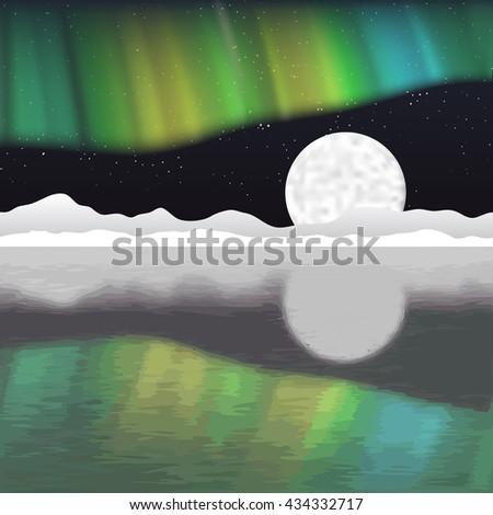 arctic pole vector landscape
