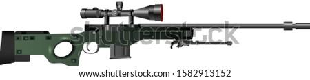 Arctic warfare sniper rifle - Vector