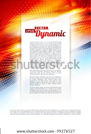 Ardent abstract background. Vector