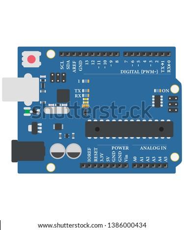 arduino board minimal / iot / vector /for education