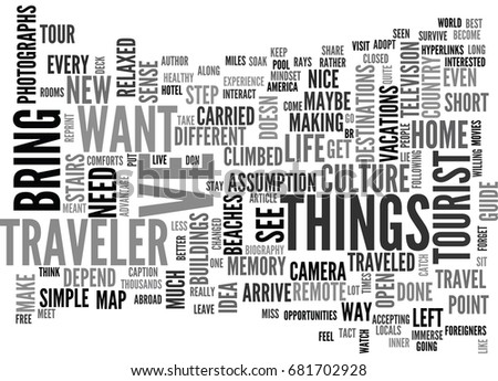 Are You A Traveler Text Word Cloud Concept