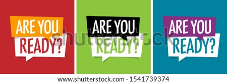 Are you ready ? on speech bubble Foto d'archivio ©