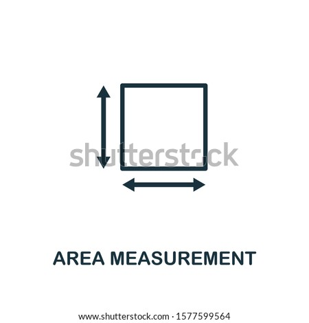 Area Measurement outline icon. Can be used for logo, graphic design and other.