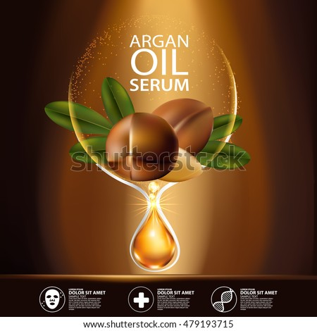 argan oil serum and background