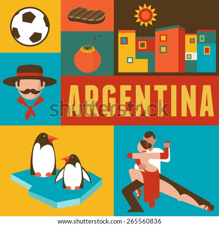 argentina background and poster
