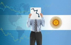 Argentina crisis economy stock exchange market down chart fall trading graph finance