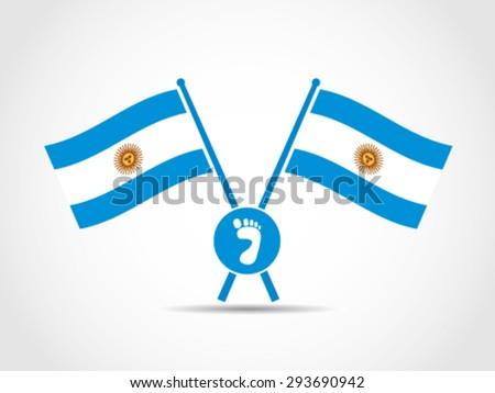 argentina crossed flags emblem