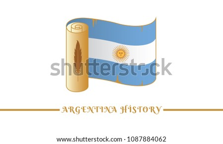 argentina flag and argentina