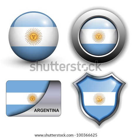 Argentina flag icons theme.