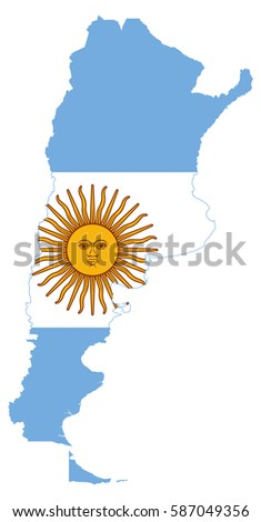 Shutterstock Argentina flag map